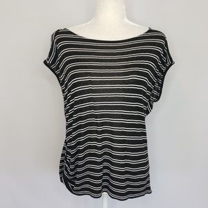 Michael Stars black & white stripe top Small